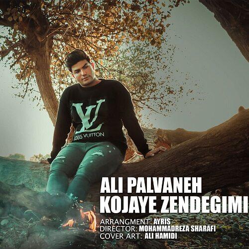 دانلود موزیک جدید علی پالوانه کجای زندگیمی
